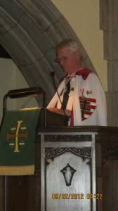 Kiss János h. széktartó az ünnepi beszédét tartja.
